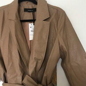 Zara Jackets & Coats - Faux Leather Cinched Waistbelt Jacket - BRAND new